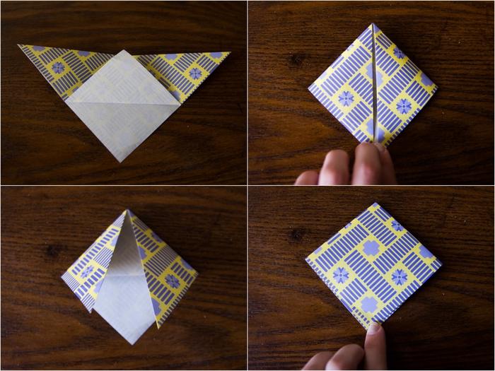 pliage papier facile pour la décoration de la maison, comment faire une simple guirlande de bateaux en papier