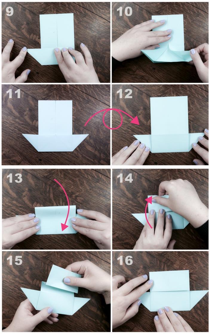 une activité ludique et intelligente pour enfants sur le thème d'origami bateau