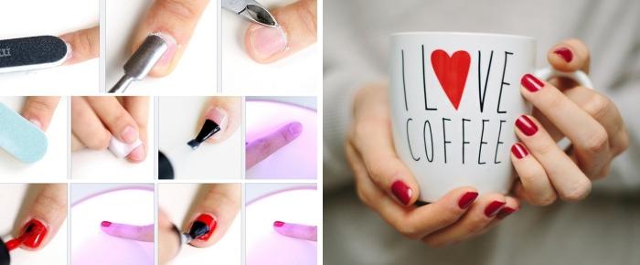étapes à suivre pour nettoyer les ongles et les préparer pour l'application du vernis gel et le séchage UV