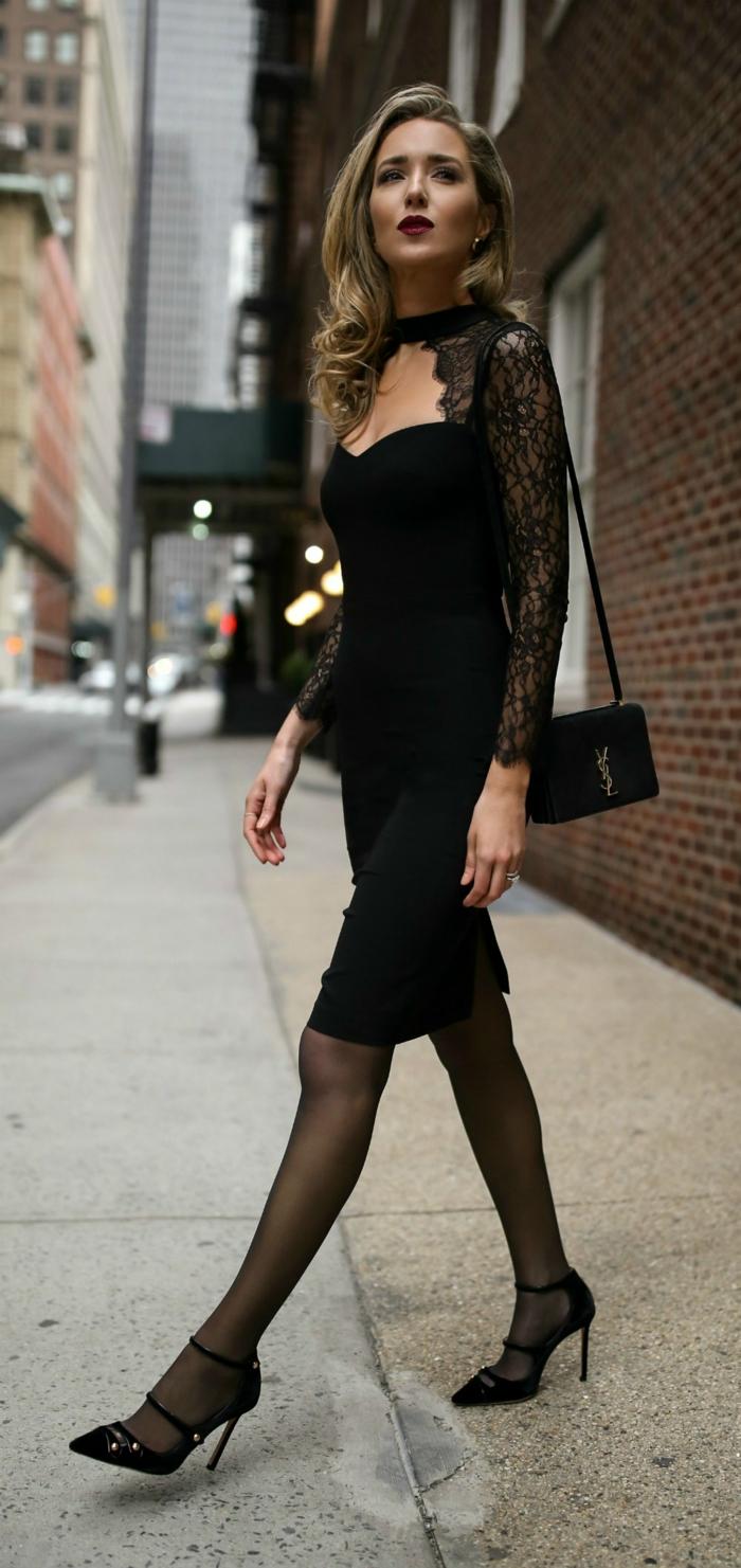 Jolie tenue de soirée femme mariage tenu soirée femme robe noire dentelle