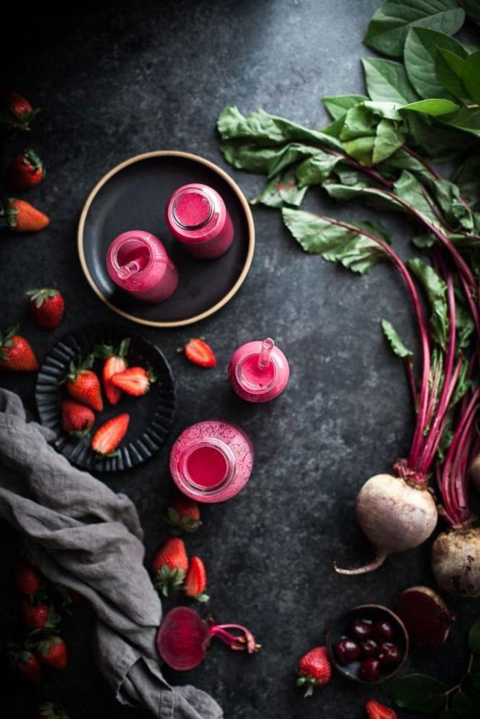 recettes détox pour un alimentation saine, comment faire des smoothies à la betterave rouge