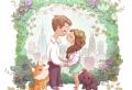 Une illustration mariage magnifique pour la célébration du jour J