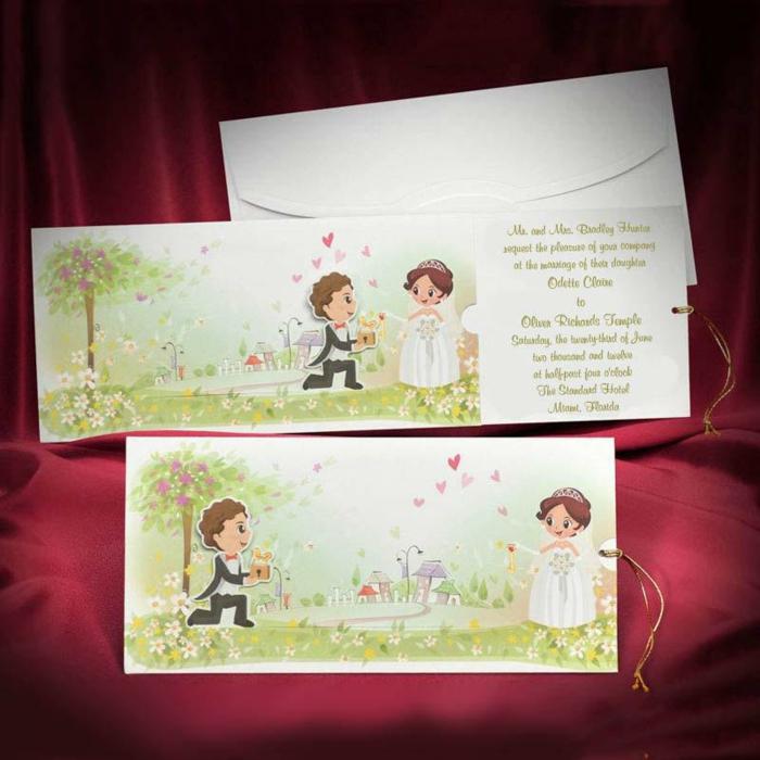 Original faire part mariage couple qui devient ensemble invitation mariage originale amour