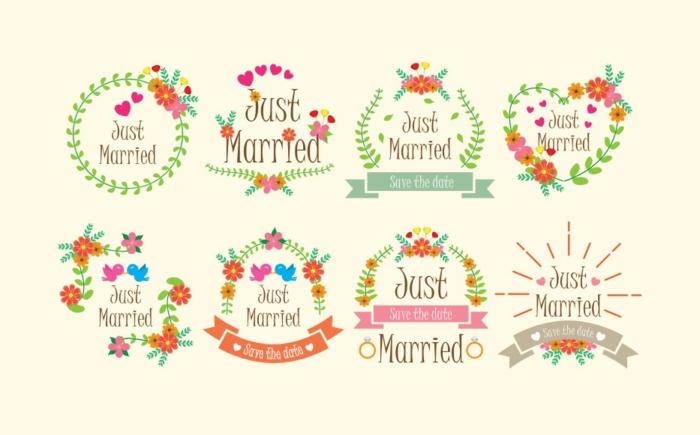 Illustration pour livret de messe mariage symbole mariés petits symboles mariage les mariés