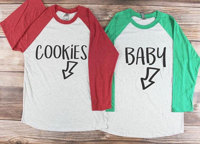 t-shirts amusants avec des textes à thème grossesse, t-shirt pour la maman et pour le papa