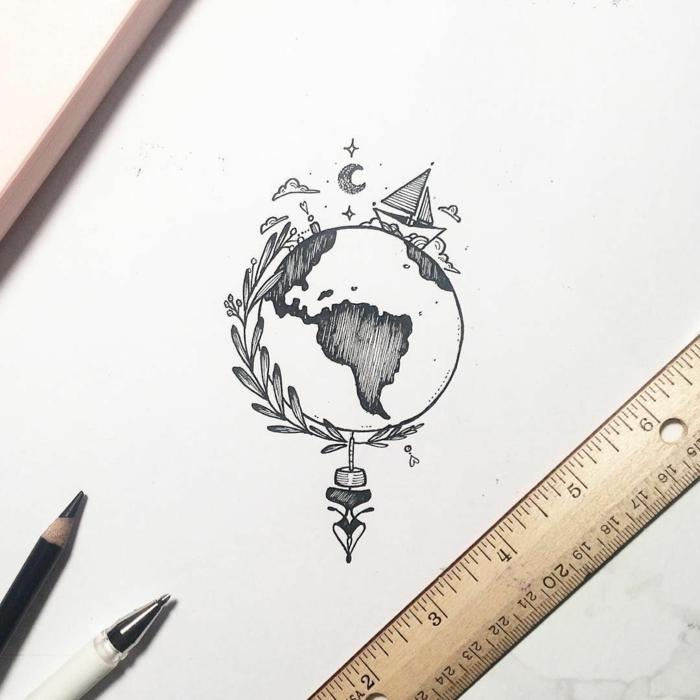 Facile dessin géométrique facile idée comment dessiner le monde ronde