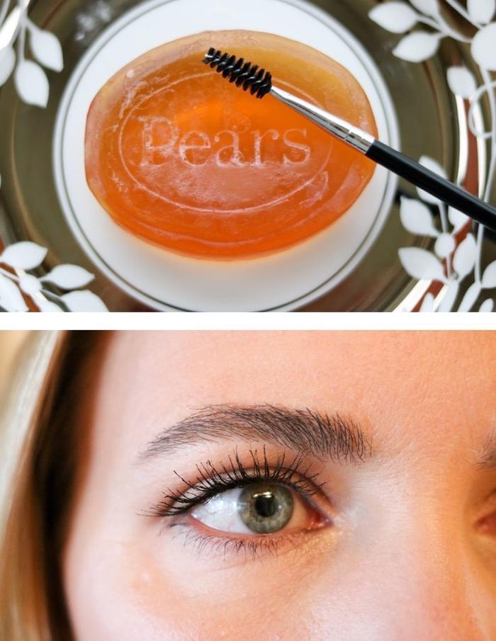 astuces beauté pour arborer des sourcils parfaits sans maquillage, comment maquiller les sourcils au savon
