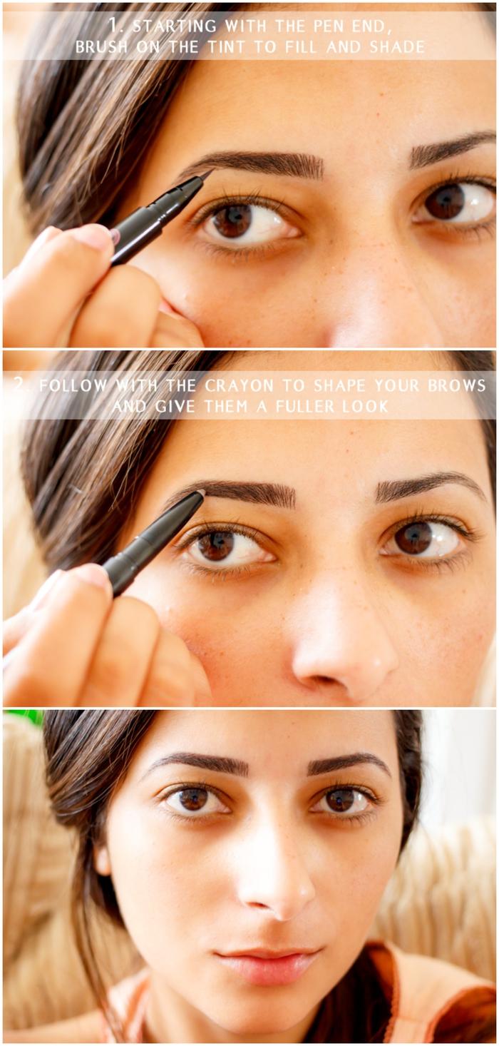 tuto make up pour bien dessiner ses sourcils au crayon pour un look à la fois naturel et soigné