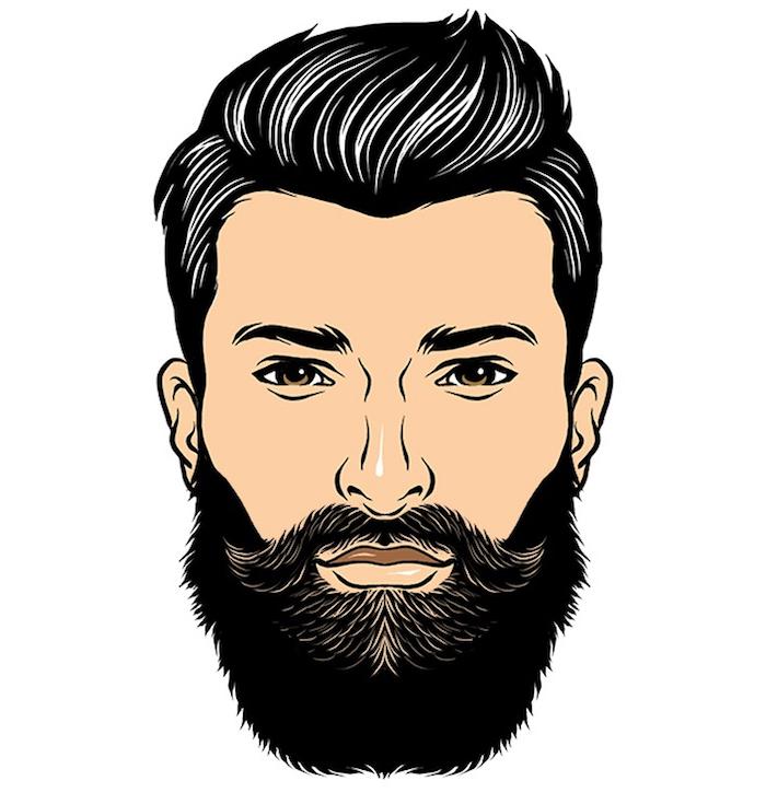 dégradé barbe longue type de barbes hipster style barbu