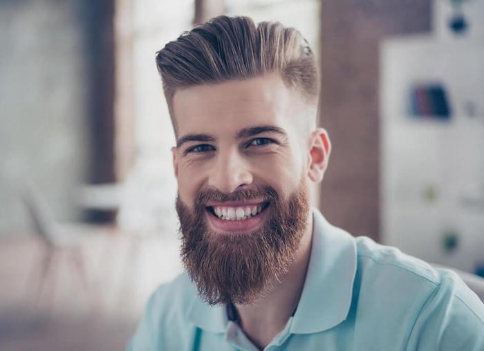 comment tailler une barbe longue style hipster coiffure banane quiff pompadour