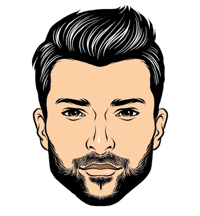idée style de barbe clairsemée homme barbu jeune