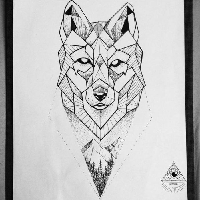 Facile dessin géométrique facile idée comment dessiner loup