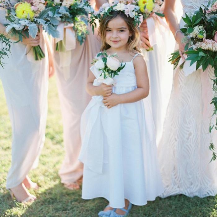Enfant robe demoiselle d honneur pour mariage robe enfant tenue bapteme robe blanche