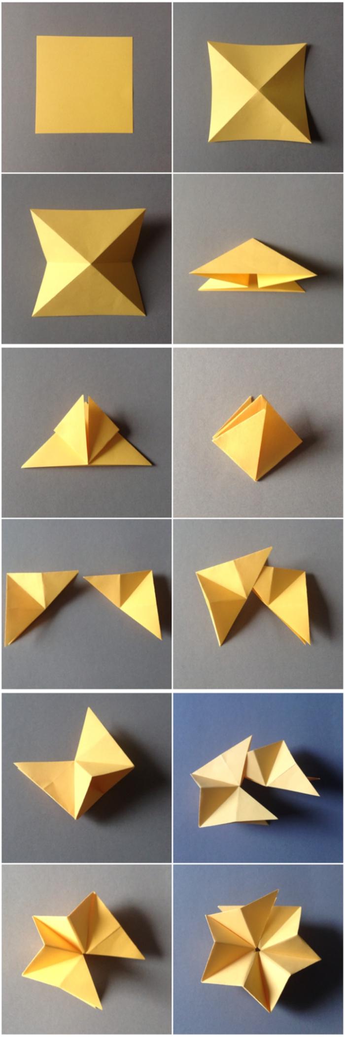 modèle facile idéal pour démarrer dans l art du pliage papier, comment réaliser une déco de noel en papier