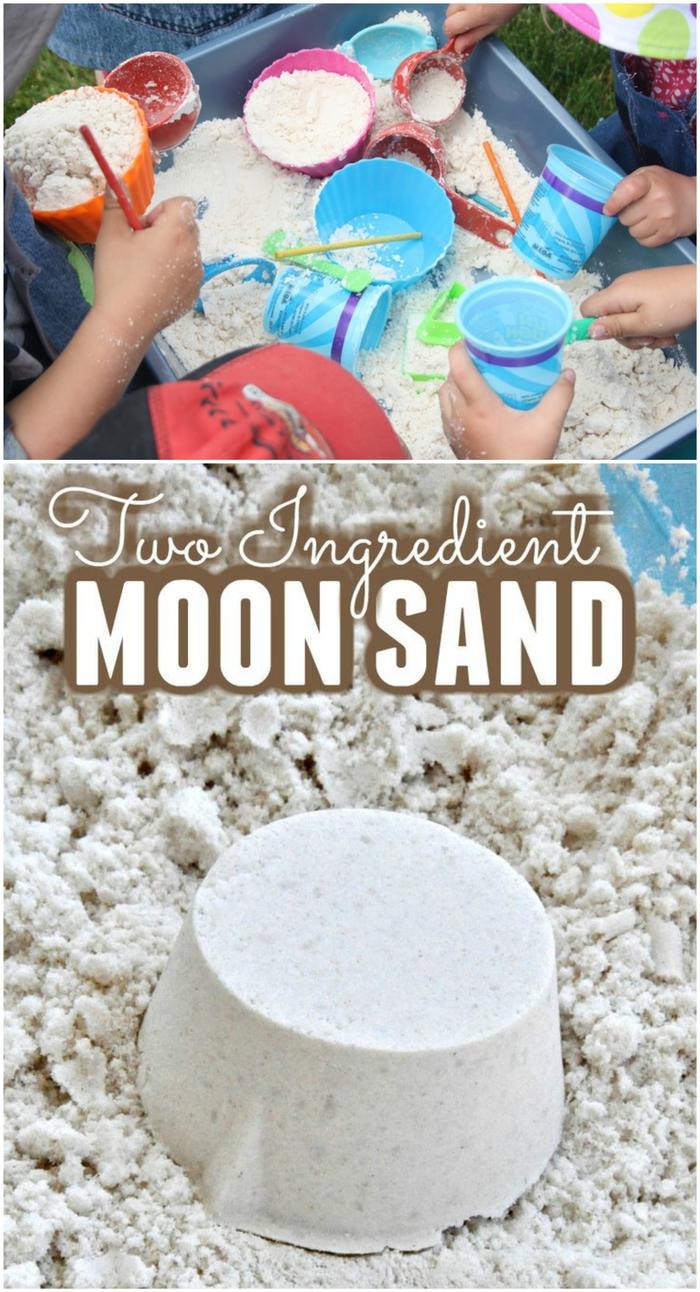 recette de sable kinetic fait maison qui fait le bonheur des petits et des grands