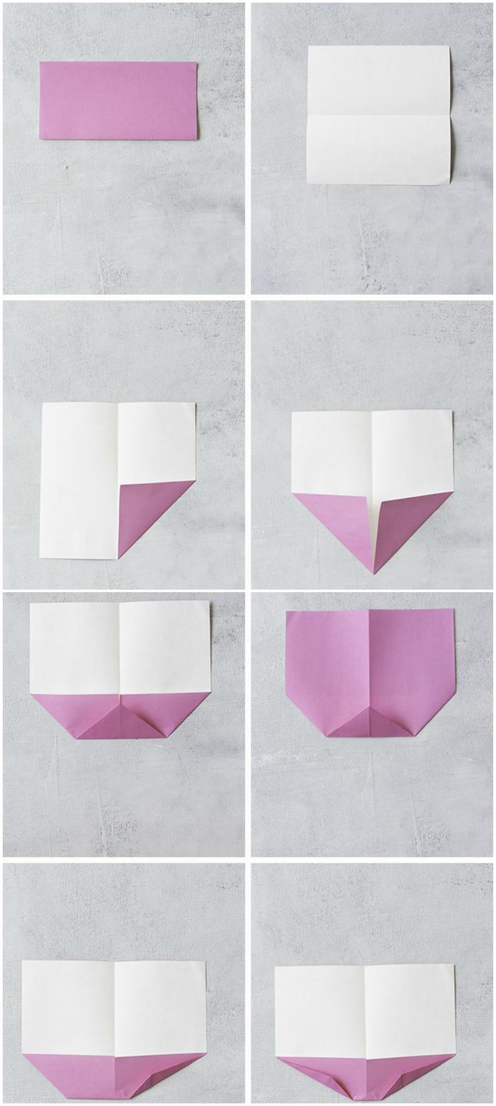 modèle d'origami oiseau facile à réaliser pour la décoration de la table de pâque, idée pour un bricolage de printemps facile et coloré