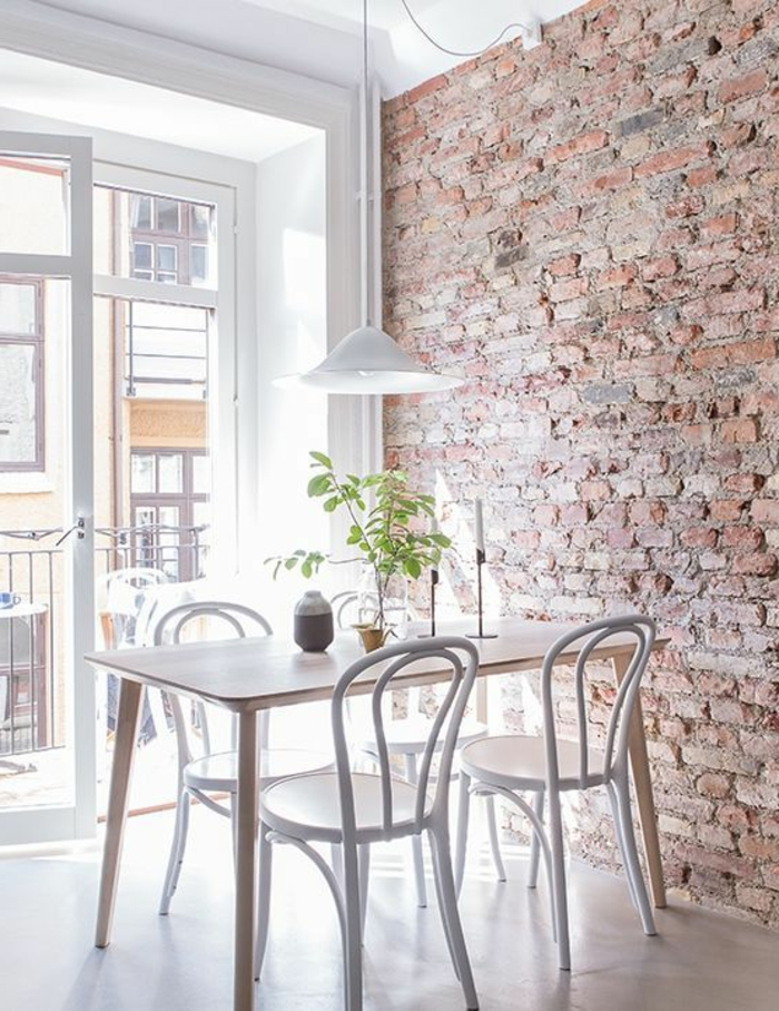 peindre des briques dans une cuisine peindre sur du. Black Bedroom Furniture Sets. Home Design Ideas