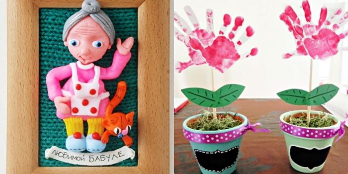 bricolage facile avec cadre photo de bois et figurine diy de pâte coloré pour la fete des mammies, pot à fleur décoré avec fleur diy de papier et empreintes enfants