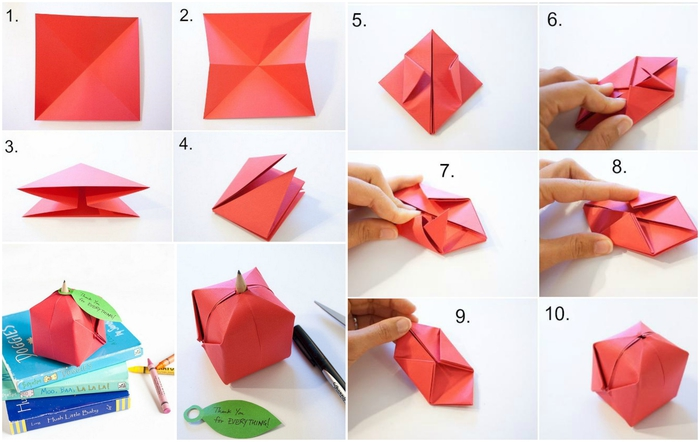 Origami simple enfant simple origami with pliage pour enfants with origami simple enfant good - Petit bricolage facile ...