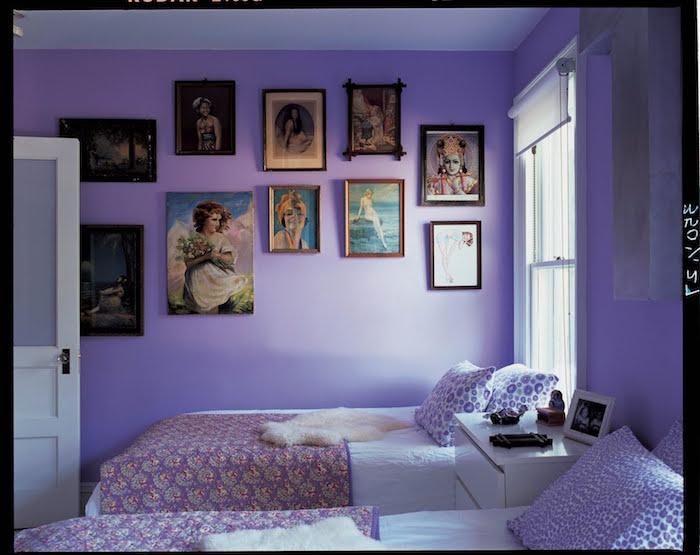 idée couleur peinture pour chambre, peindre une piece en violet mauve