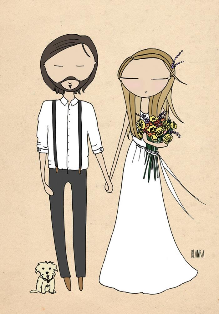 Petites images à imprimer dessin mariage religieux idée