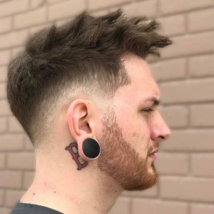 modeles coupe top tendance coiffures homme 2018 avec barbe courte