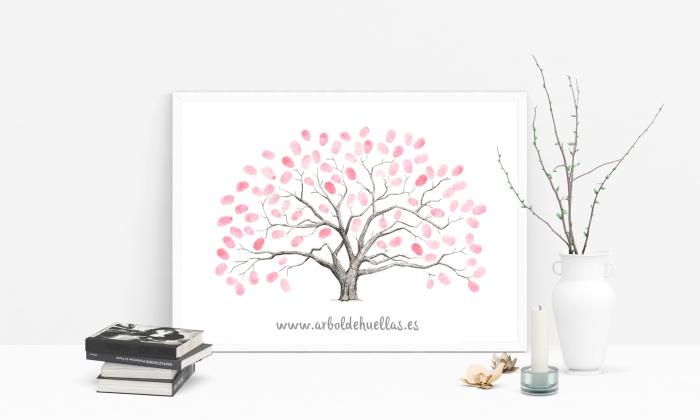 déco avec objets sentimentaux et des souvenirs de son mariage, collection de livre et une vase blanche aux branches