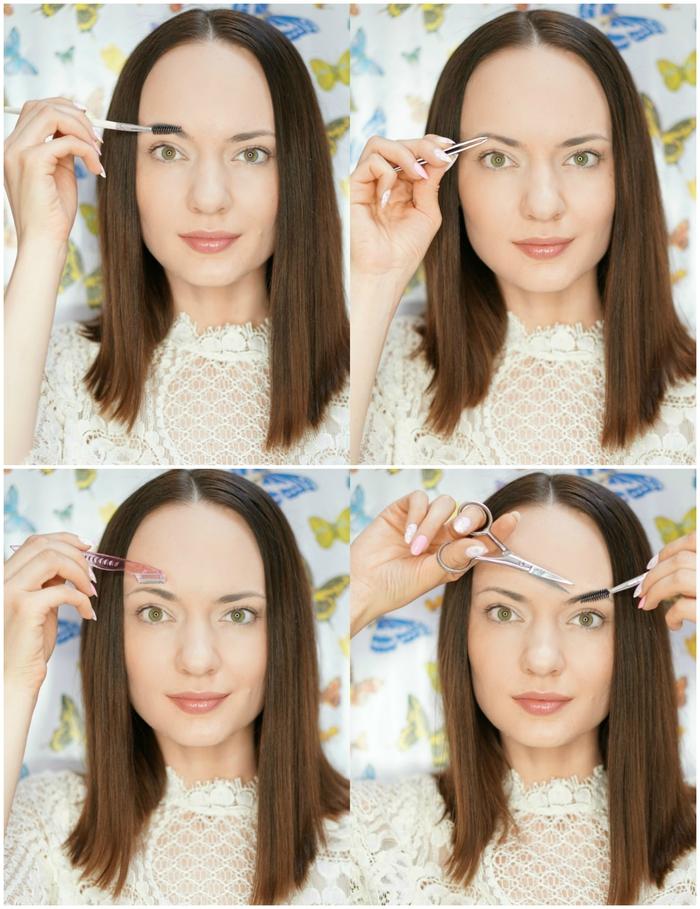 tuto maquillage yeux au niveau des sourcils, comment épiler et maquiller ses sourcils
