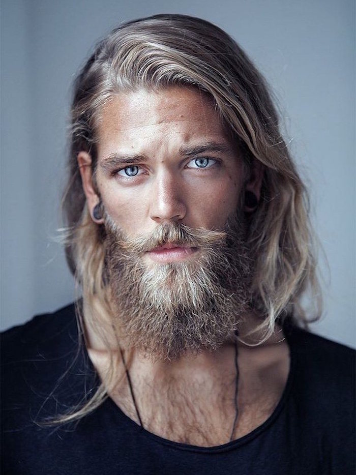 comment couper sa barbe longue style viking blond hipster