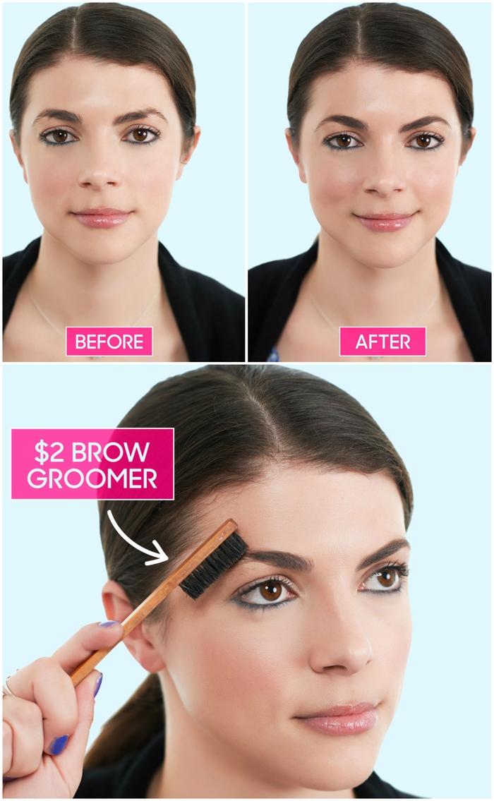 comment avoir de beaux sourcils sans les maquiller, sourcils arqués bien brossés au contour parfait