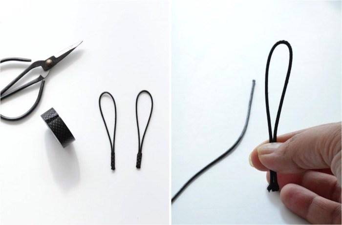 des élastiques simples pour fabriquer des oreilles de lapin, activités manuelles paques originales