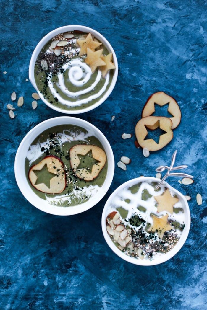 qu'est ce qu'un smoothie bowl et comment le préparer, recette de smoothie bowl minceur à la pomme verte, riche en protéines