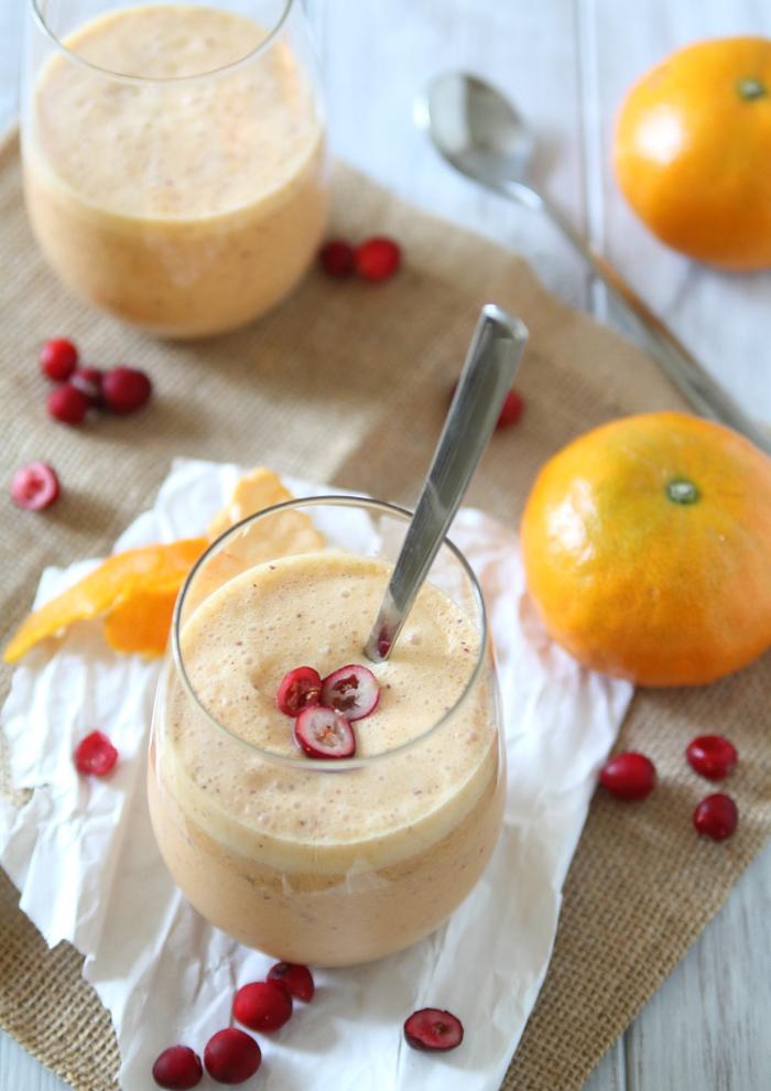 recette smoothie onctueux d hiver aux agrumes, canneberges et à la crème de noix de coco