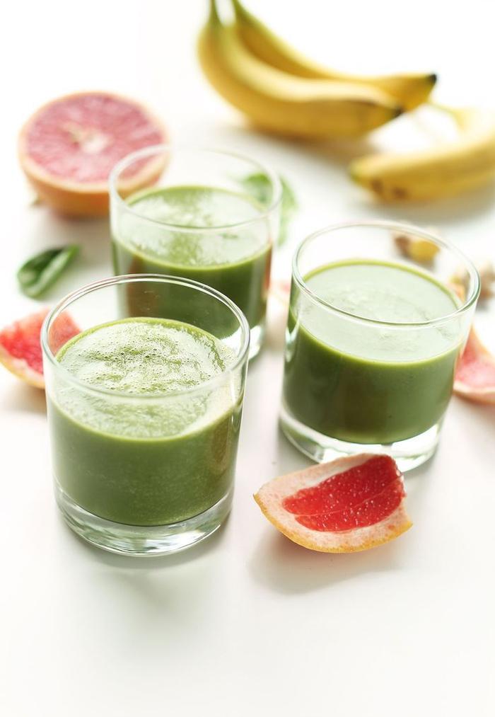 smoothie vert vitaminé à la pamplemousse, banane et épinards, qu est ce qu un smoothie vert détox