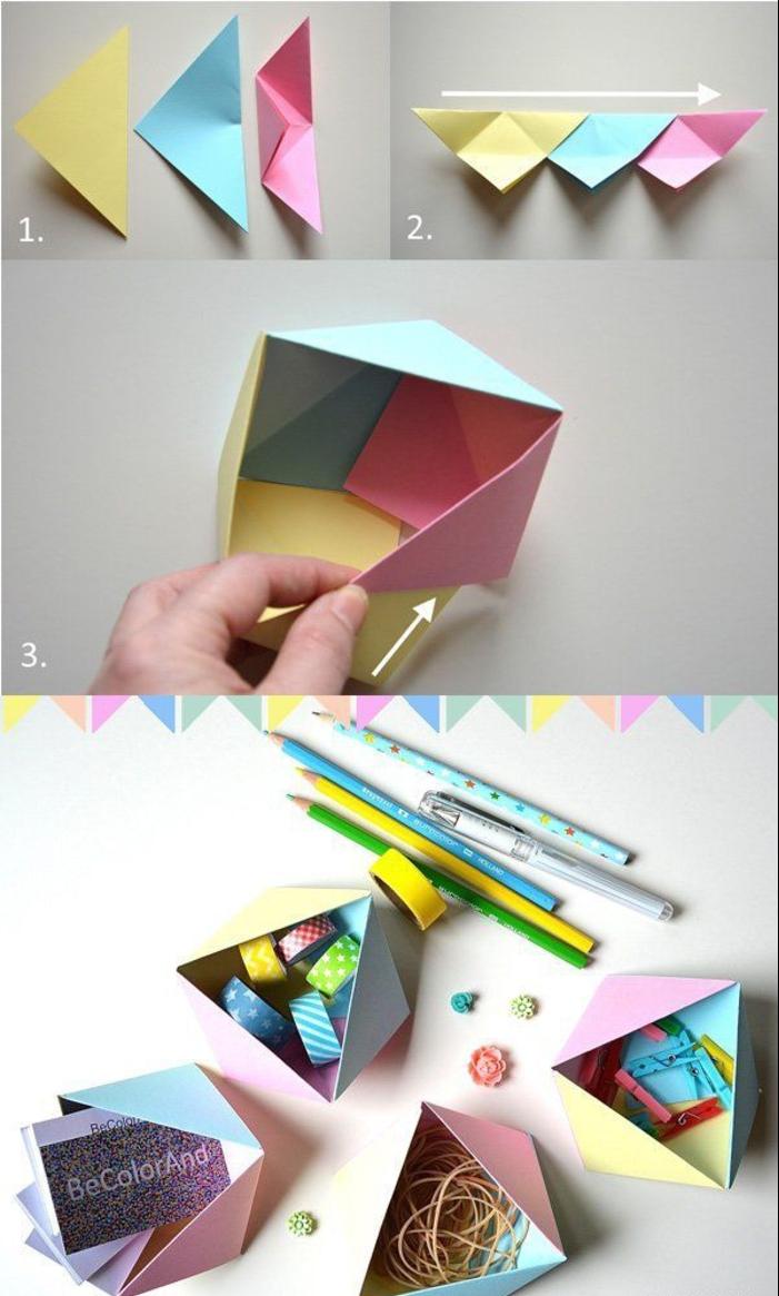 comment faire une boite en carton facile gallery of pliage boite en papier se rapportant. Black Bedroom Furniture Sets. Home Design Ideas
