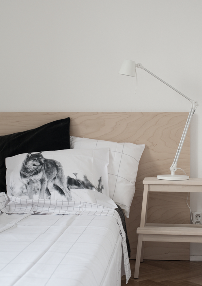 idées pour un relooking à petit budget de la chambre à coucher, fabriquer tete de lit à partir d'un panneau de contreplaqué