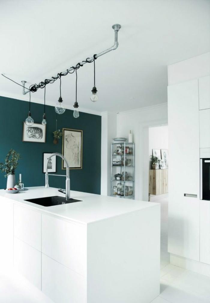 1001 id es pour repeindre sa cuisine les couleurs phares du 2018 et les combinaisons r ussies. Black Bedroom Furniture Sets. Home Design Ideas