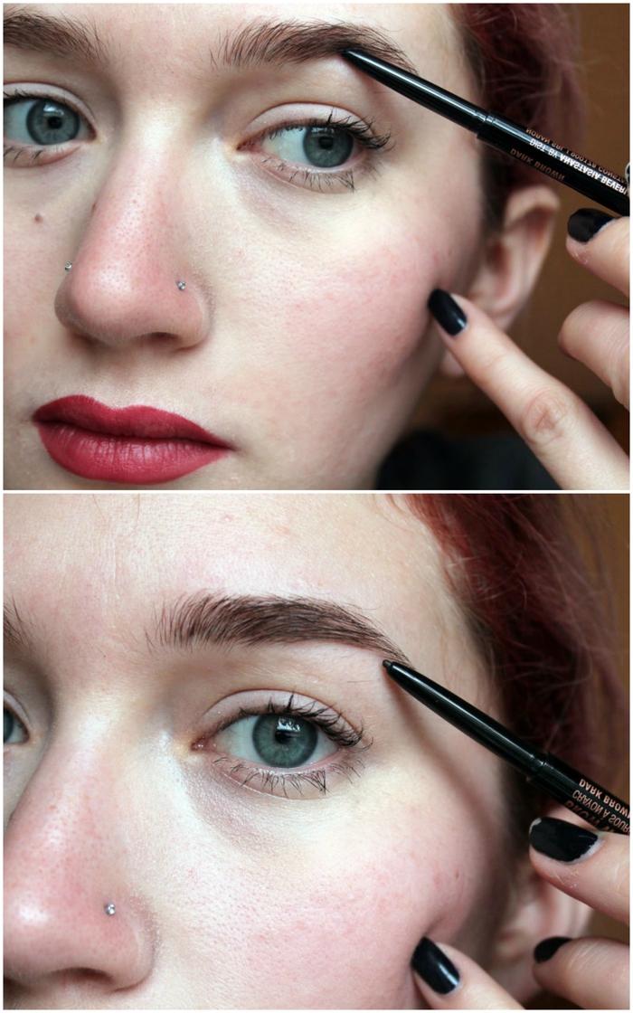 comment appliquer son crayon a sourcil pour donner aux sourcils une allure naturelle