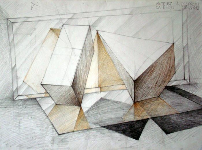 Image géométrique de dessin simple à recréer cool idée dessin à faire