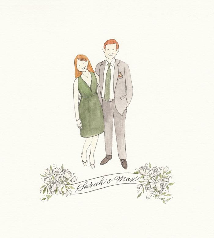 Belle illustration faire part mariage dessin mariage image