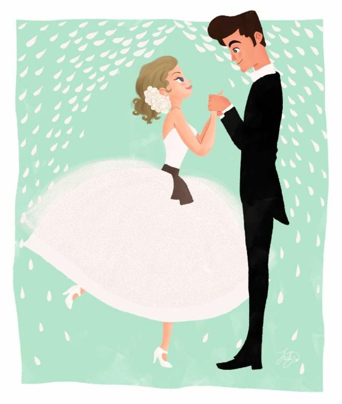 Cool illustration livret de messe mariage image mariage couple belle femme robe princesse