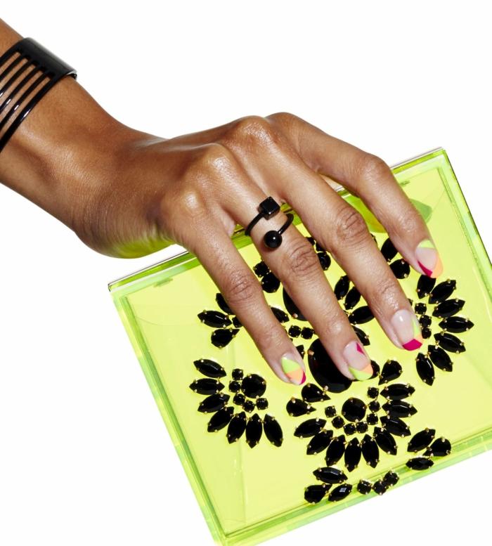 Opi vernis semi permanent kit vernis semi permanent pas cher sac à main neon vernis géométrique modèle