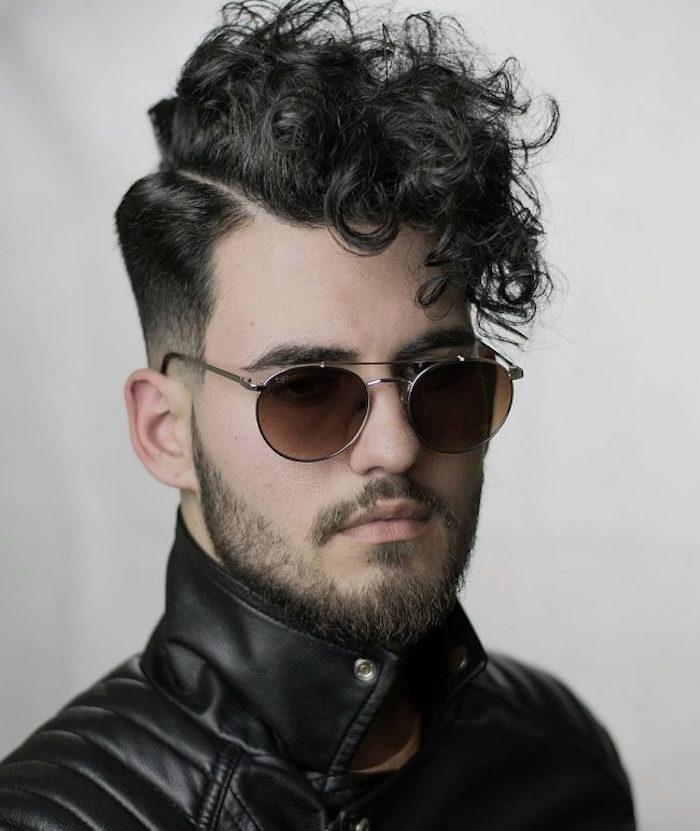 comment bien tailler sa barbe clairsemée courte style trois jours avec coupe banane hipster quiff
