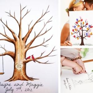 L'arbre à empreinte mariage - un souvenir à valeur sentimental pour ne jamais oublier votre jour J