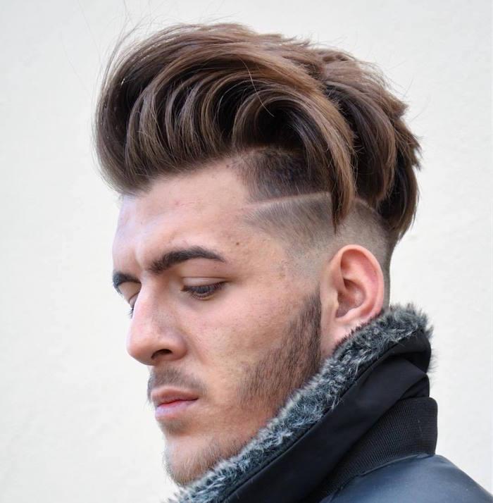 coupe a la mode italienne long dessus court coté undercut tendance