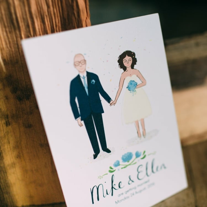 Dessin couple de mariés image mariage illustré dessin