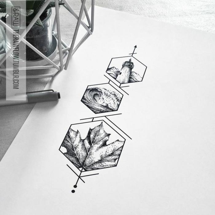 Photo de dessin géométrique avec explication dessiner
