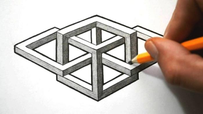 Règle dessin forme géométrique image de dessin joli optique illusion