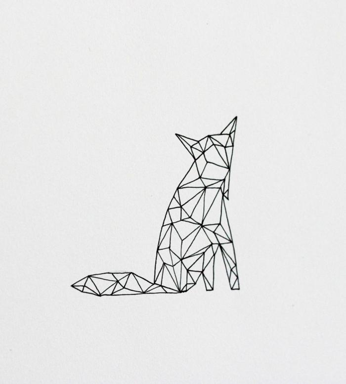 Papiers crayons dessin mathématique image dessin beau renard tatouage idee