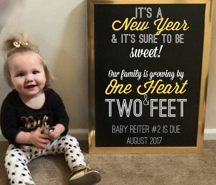 petite fille qui deviendra une soeur aînée, annoncement de grossesse original